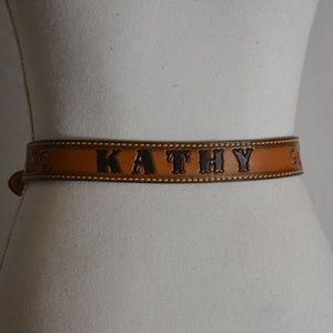 Dun Dee Belt Kathy Personalized Brown Floral S 26